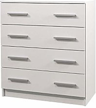White OMEGA I Chest of Drawers Storage Cabinet