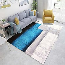 White Out Door Rug Abstract ink pattern living