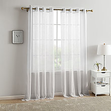White outdoor curtain 140x220cm with eyelets (2