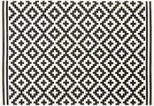 White Outdoor Rug with Black Graphic Print 160x230
