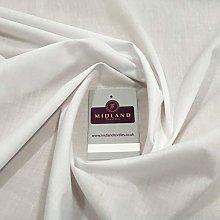 White PolyCotton Fabric - Dress Craft 44 Inch Wide