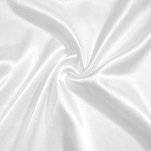 White Polyester Silky Satin Fabric Lining Material