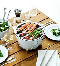 White Porcelain Table Grill by Eva Solo