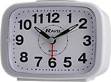 WHITE RAVEL QUARTZ ALARM CLOCK RC008.04