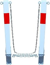 White & Red Removable Security Post Chain Set