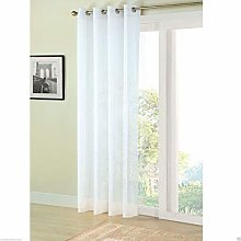 "WHITE RING TOP EYELET VOILE CURTAIN 59"" X 84"
