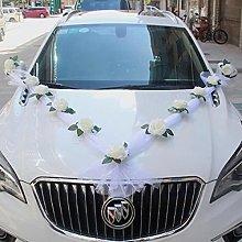 White Rose Artificial Flower for Wedding Car