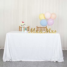 White Sequin Tablecloth 60x102-Inch Rectangle