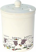 White Sheep Design Ceramic Compost Caddy - Ashmore