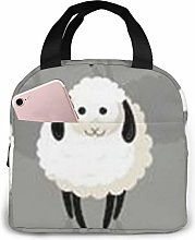 White Sheep Lunch Bag,Reusable Insulated Lunch Bag