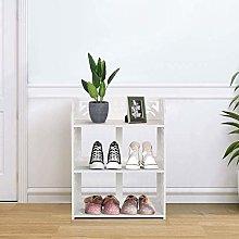 White Shoe Rack 3 Tiers Floor Standing Shoe Rack