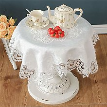White small square lace tablecloth for wedding