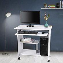 White Small Wooden Computer Desk Laptop PC Table