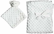 White Soft Baby Receiving Swaddle | Warm Plush