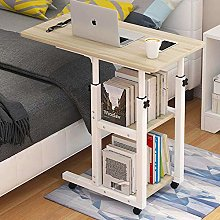 White Solid Wood Tablet Laptop Bed Tray Height