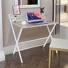 White Stable Computer Desk X-Shaped PC Table