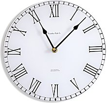 White Station Clock Acrylic Glass Medium Kitchen