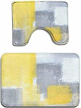 White Steady Grey Yellow Abstract Modern 2 Piece