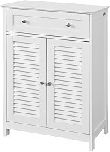 White Storage Cabinet Cupboard with Drawer and