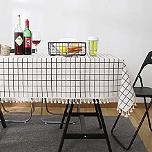 White Table Cloth, Rectangular Tablecloth, Cotton