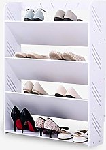 White Tall 4 Tier Shoe Rack Large Space Storage