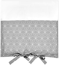White Thin Diamonds Changing Table Mat Cover