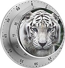 White Tiger Pattern Kitchen,Oven Timer, No