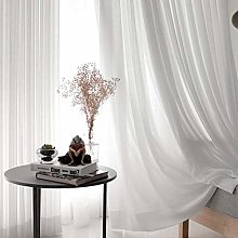 White Tulle Curtains for Living Room Decoration