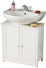 White Under Sink Bathroom Cabinet with Double