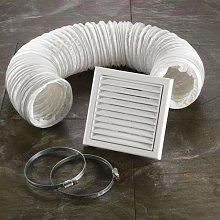 White Ventilation Fan Accessory Kit