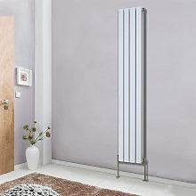 White Vertical Column Designer Radiator Premium