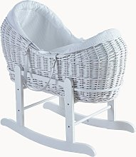 White Waffle Wicker Pod Basket and Rocker