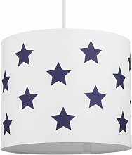 White with Blue Stars 25cm Light Shade