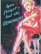 Whitear Careless Talk Costs Lives UK WWII Vintage