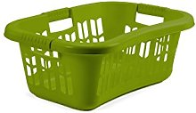 Whitefurze Easy Grip Hip Laundry Basket, Leaf Green