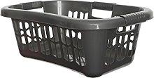 Whitefurze Easy Grip Hip Laundry Basket, Silver