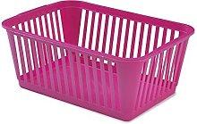 Whitefurze Handy Basket, Plastic, Hot Pink, 37 cm