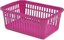Whitefurze Handy Basket, Plastic, Hot Pink, 45 cm