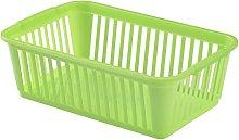 Whitefurze Handy Basket, Plastic, Lime Green, 25 cm
