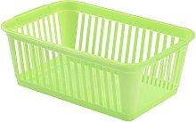 Whitefurze Handy Basket, Plastic, Lime Green, 30 cm