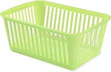 Whitefurze Handy Basket, Plastic, Lime Green, 37 cm