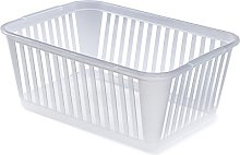 Whitefurze Handy Basket, Plastic, Natural, 37 cm