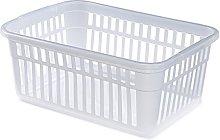 Whitefurze Handy Basket, Plastic, Natural, 45 cm