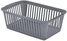 Whitefurze Handy Basket, Plastic, silver, 30cm