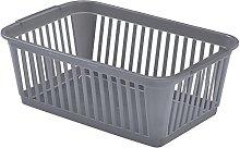 Whitefurze Handy Basket, Plastic, Silver, 30 cm