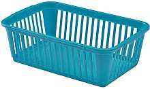 Whitefurze Handy Basket, Plastic, Teal, 25 cm