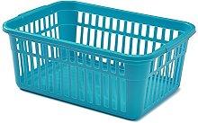 Whitefurze Handy Basket, Plastic, Teal, 45 cm