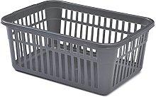 Whitefurze Handy Basket, Silver, 45 cm