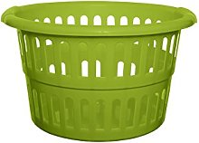 Whitefurze Round Laundry Basket, Leaf Green, 48 cm