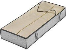 Whitmor Zippered Jumbo Underbed Bag Crosshatch Gray